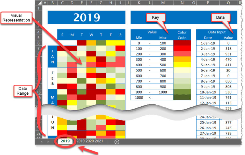 Calendar Chart Preview