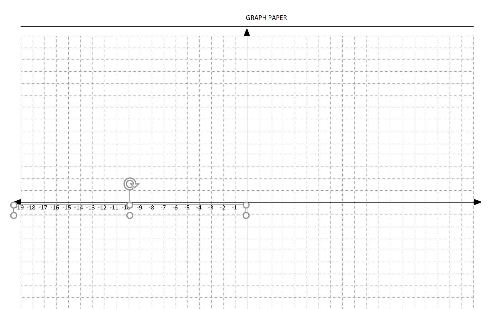 Coordinate Graph Paper Template with Axis and Labels Original Label