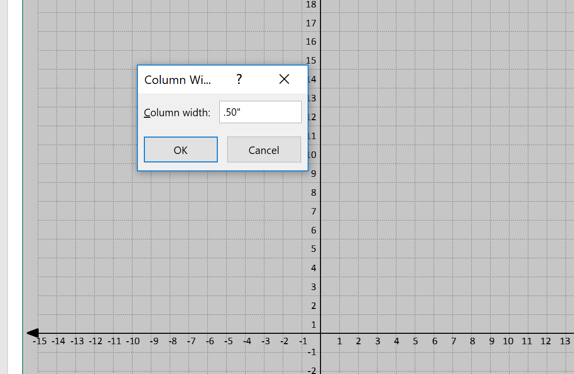 Coordinate Graph Paper Template with Axis and Labels Width