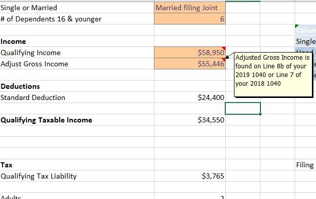 Coronavirus Stimulus Calculator Adjusted Gross Income