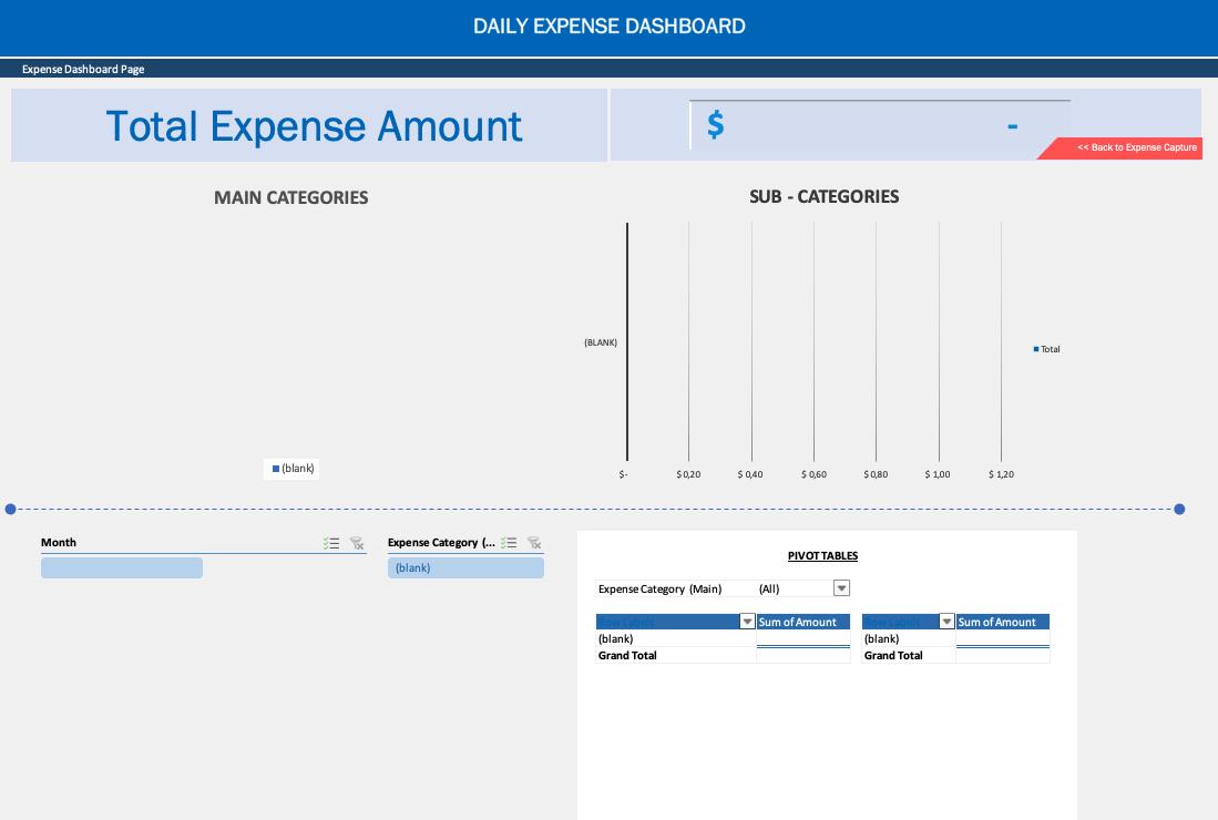 Daily Expense Sheet