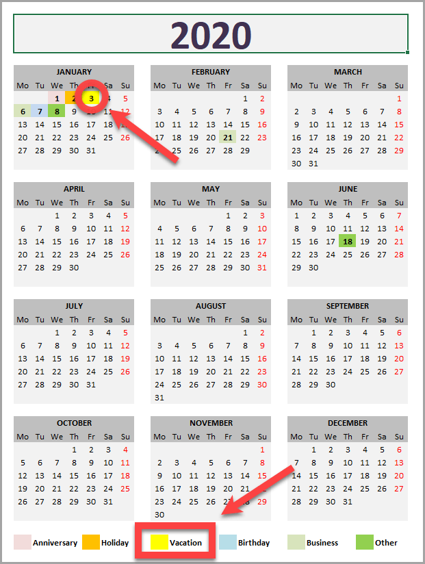 Daily Monthly Yearly Calendar Template Year View