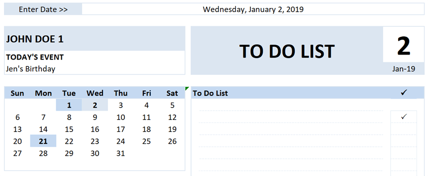 Daily To Do List Planner Holidays in planner