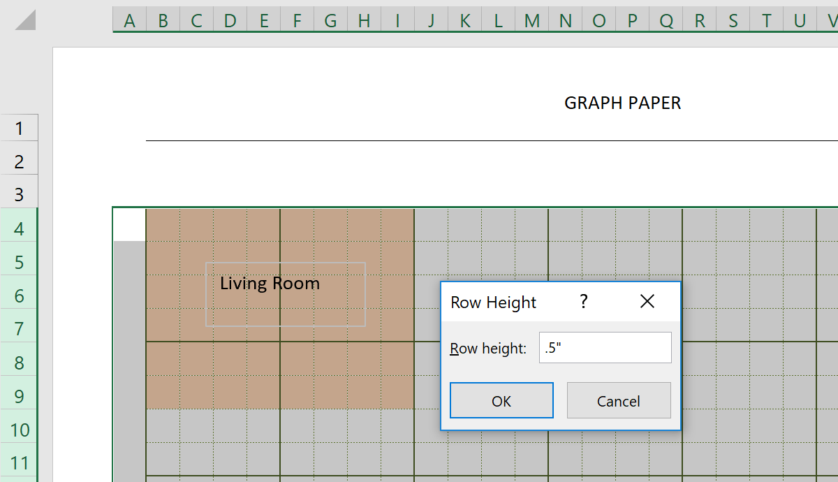 Engineering Graph Paper Template Height
