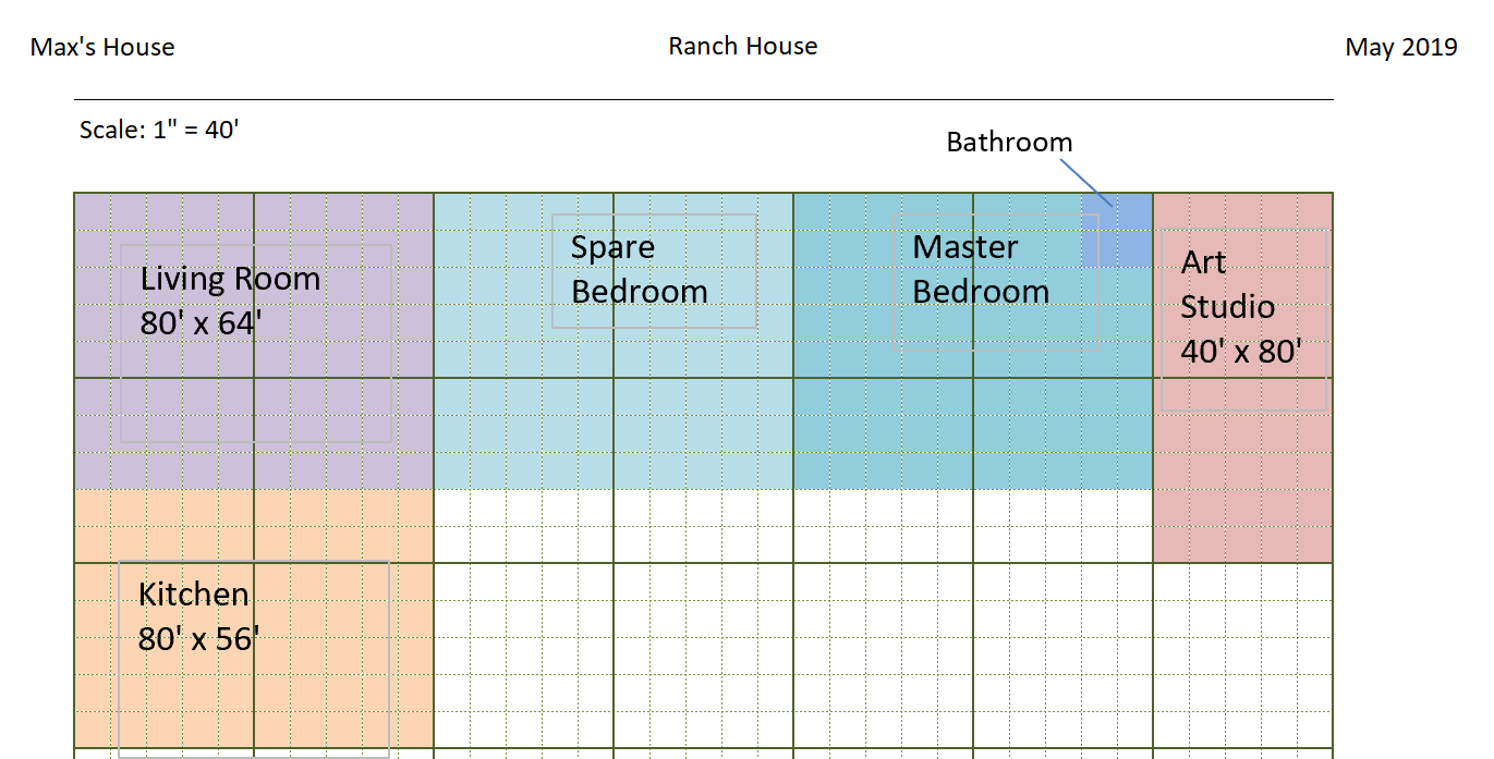 Engineering Graph Paper Template Scale