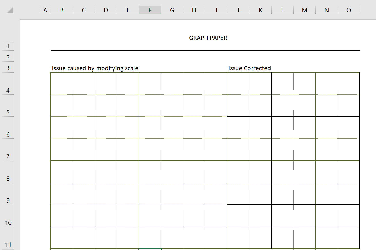 Engineering Graph Paper Template Square Border