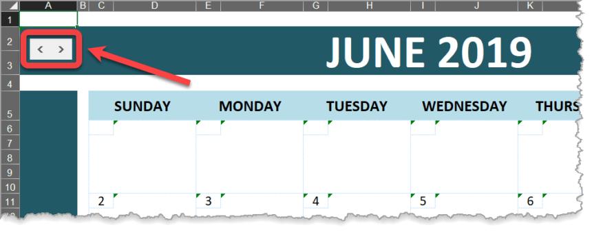 Event Calendar Template Navigation