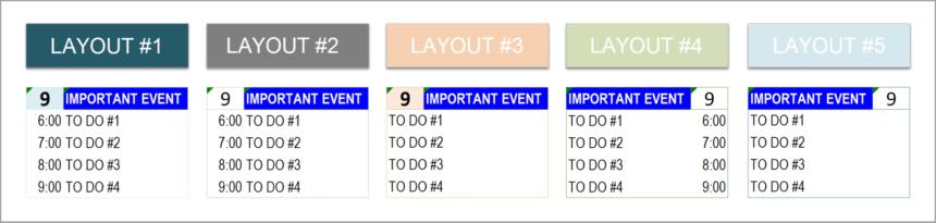 Event Calendar Template Todo List