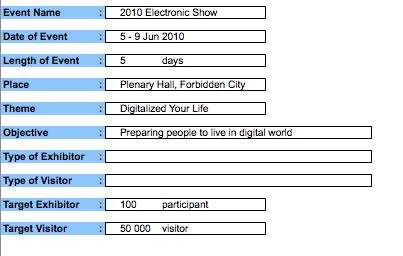 Event Budget