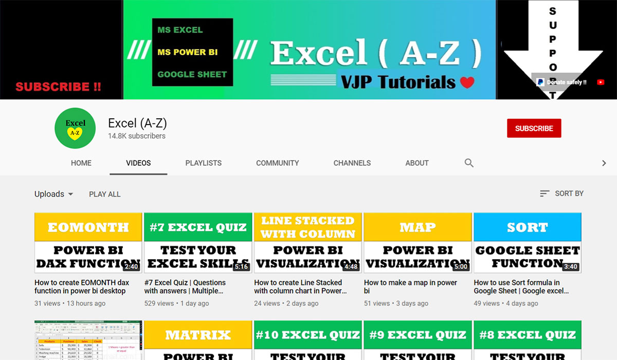 Excel A Z Youtube