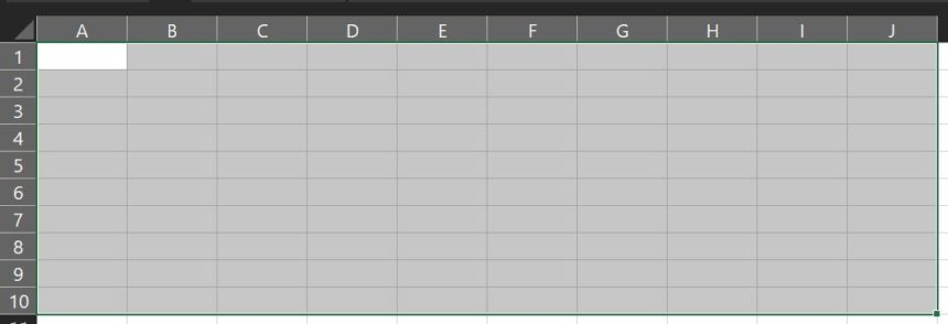 Excel Data Entry Form Cells Selection