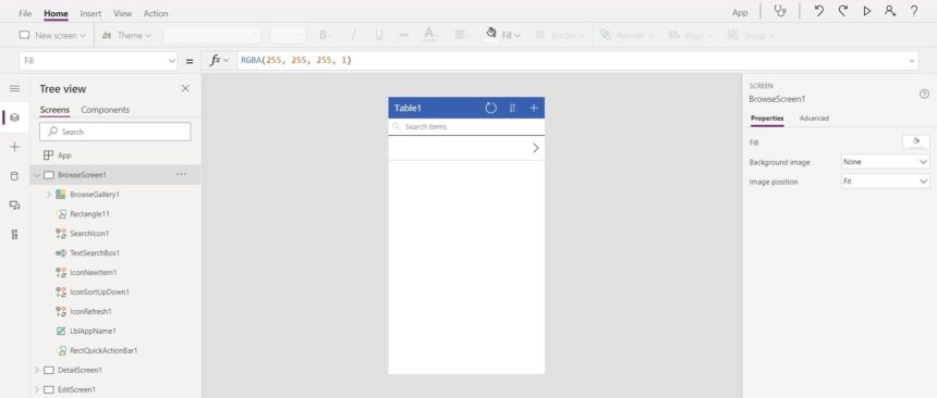 Excel Data Entry Form MS Power Apps Blank Canvas