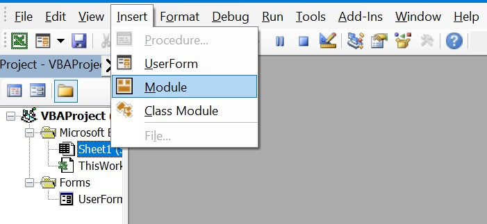 Excel Data Entry Form VBA Insert Module