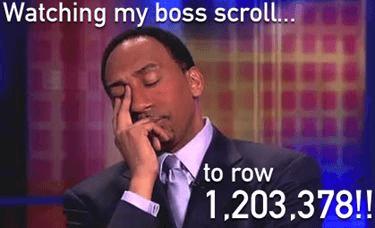 Excel Jokes Scroll