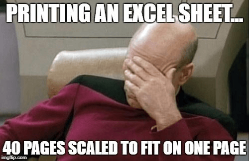 Excel Jokes Star Trek Print