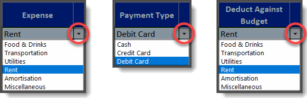 Expense Tracker Categories