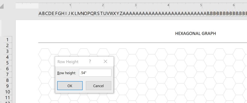 Hexagonal Graph Template Height