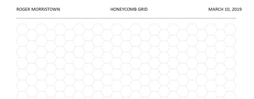Hexagonal Graph Template Personalize