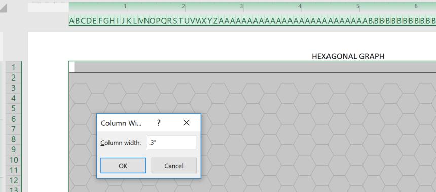 Hexagonal Graph Template Width