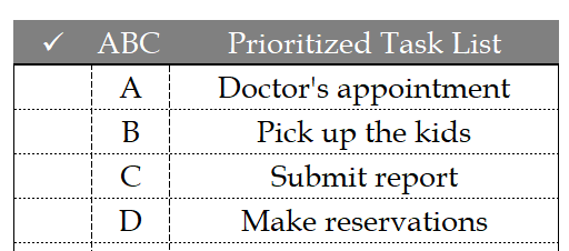 Hourly Daily Planner Priority Task List
