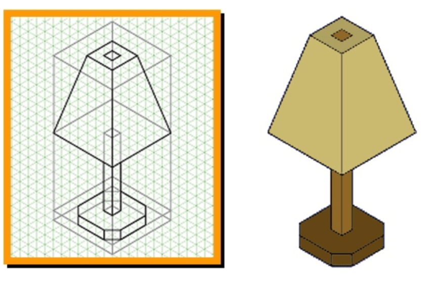 Isometric Graph Template 3D