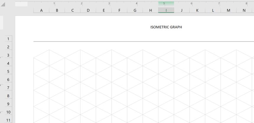 Isometric Graph Template Custom Scale