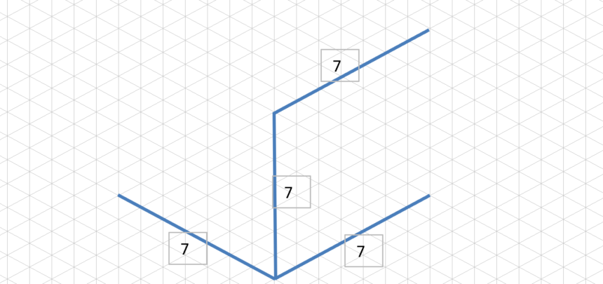 Isometric Graph Template Lines