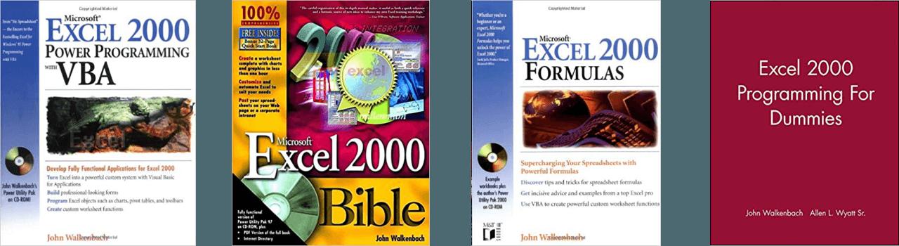 John Walkenbach Books Excel 2000