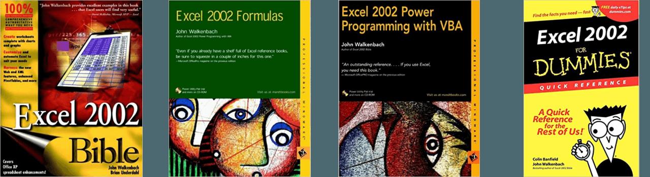 John Walkenbach Books Excel 2002
