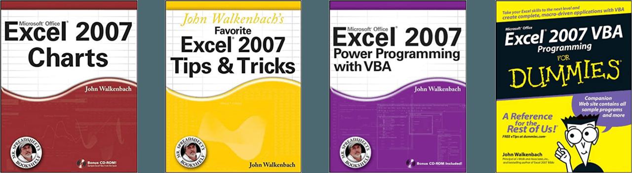 John Walkenbach Books Excel 2007