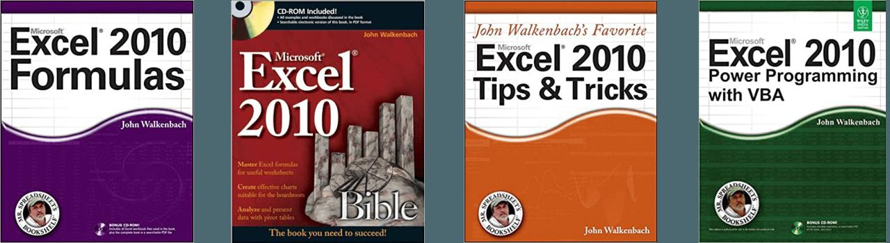 John Walkenbach Books Excel 2010