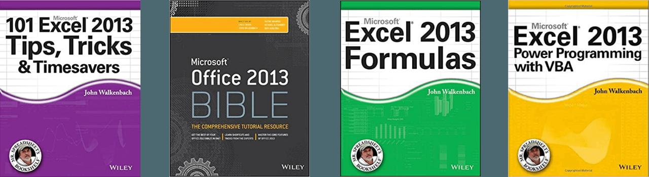John Walkenbach Books Excel 2013