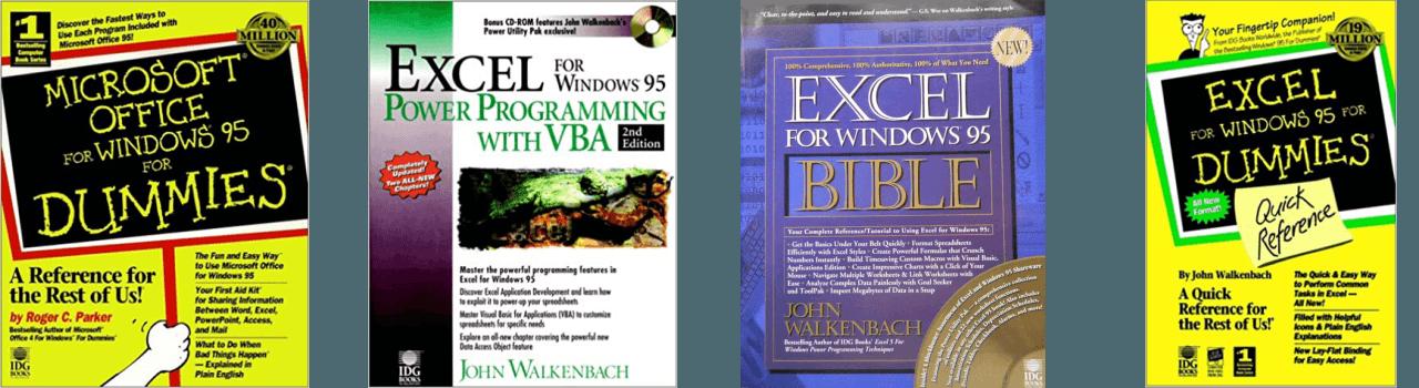 John Walkenbach Books Excel 95