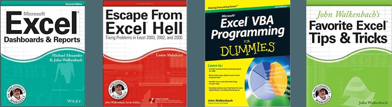 John Walkenbach General Excel Books