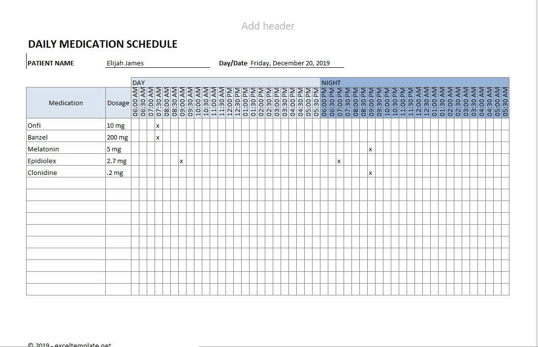 Medication Schedule Checkmark