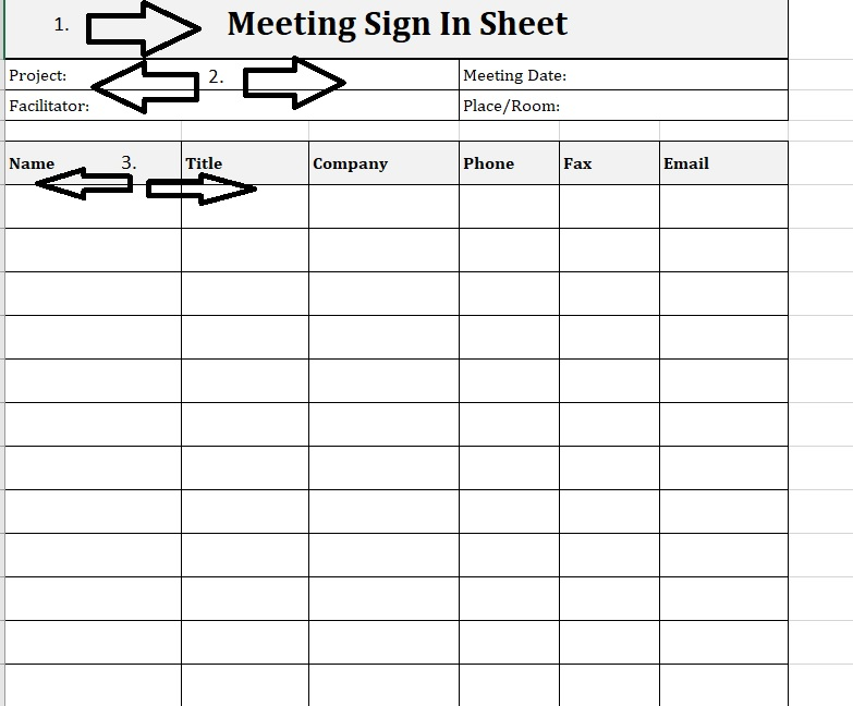 Meeting Sign-In Sheet Project Portrait