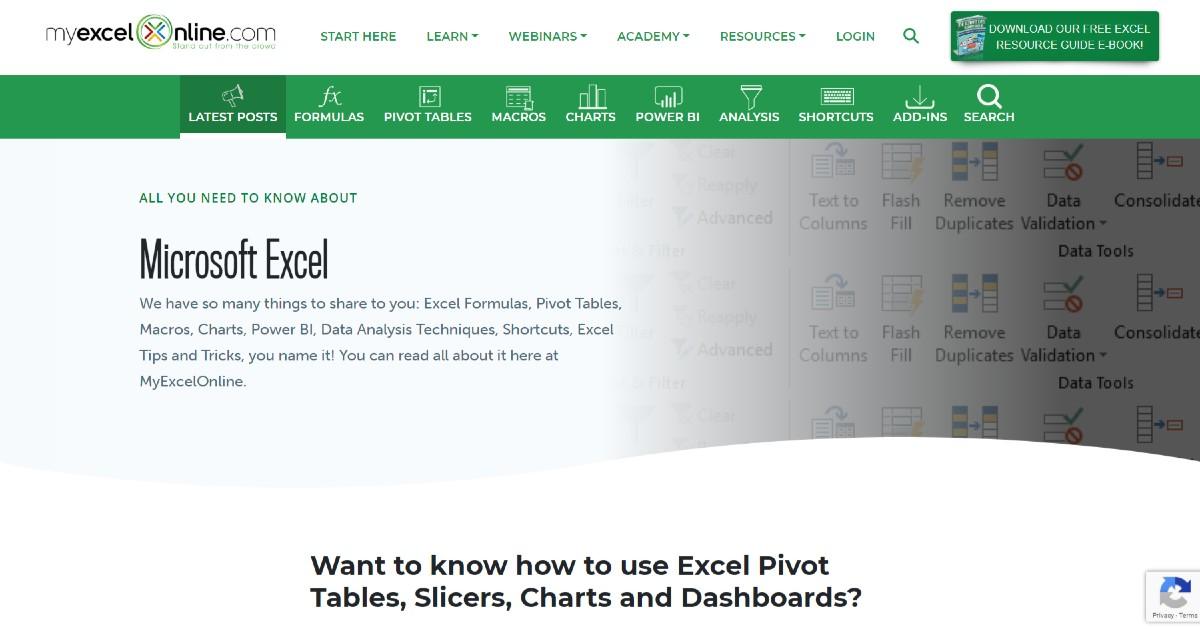 My Excel Online Blog
