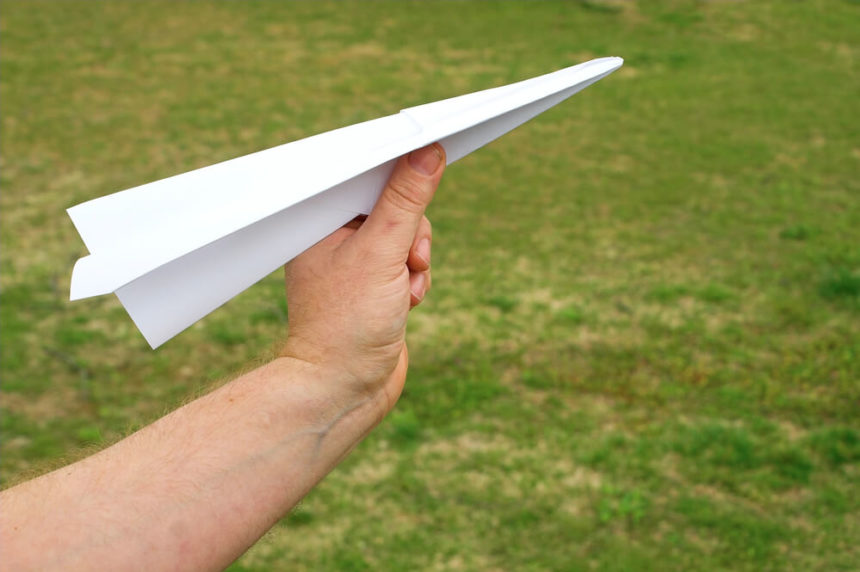 Narrow Ruled Paper Plane