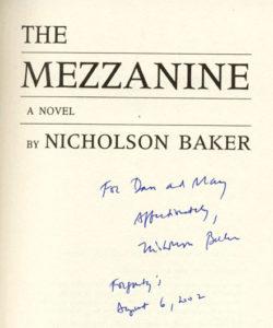 Nicholson Baker Autograph