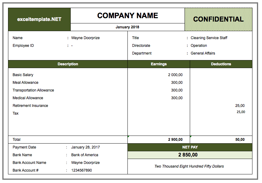 Pay Stub Template The Spreadsheet Page