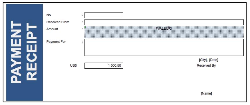 Payment Receipts blue