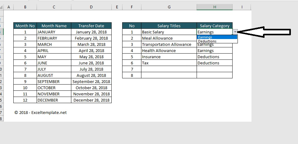 Paystub Excel Template Category