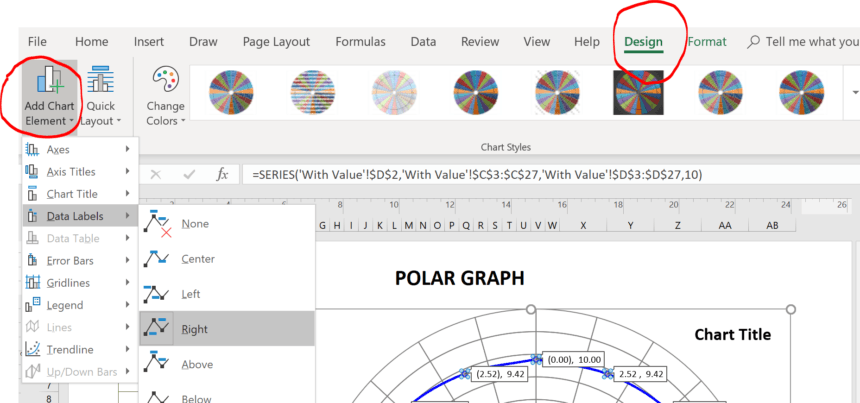 Polar Graph Template Chart Elements