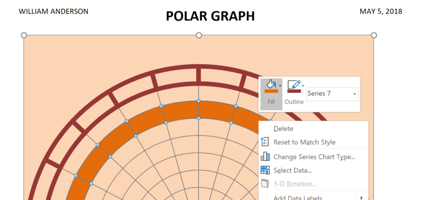 Polar Graph Template Fill Color