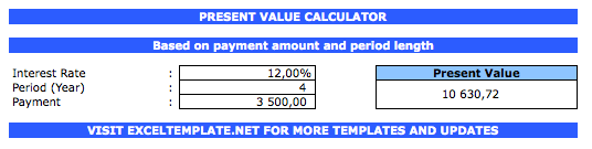 Present Value Calculator payment