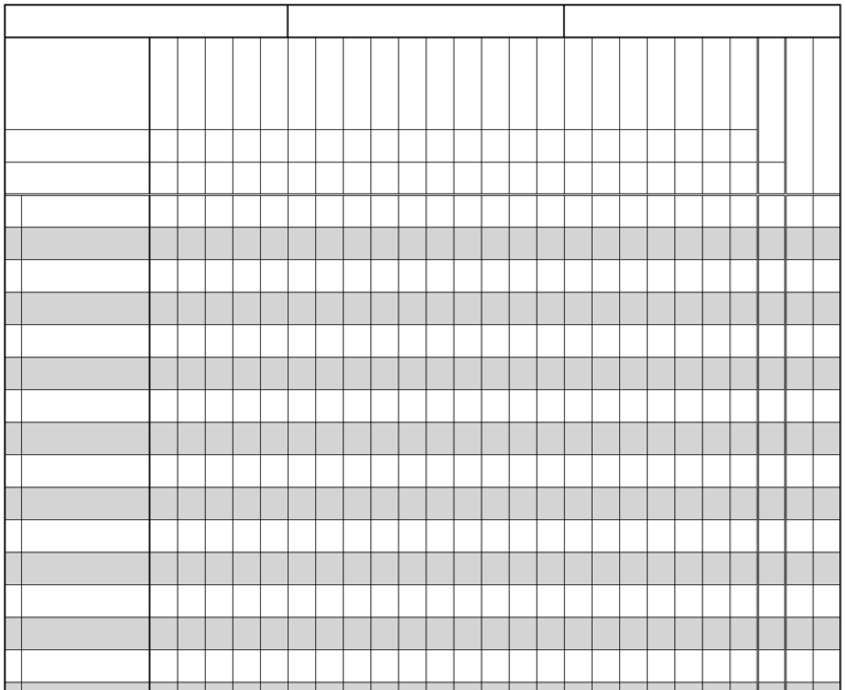 Printable Gradebook Overview