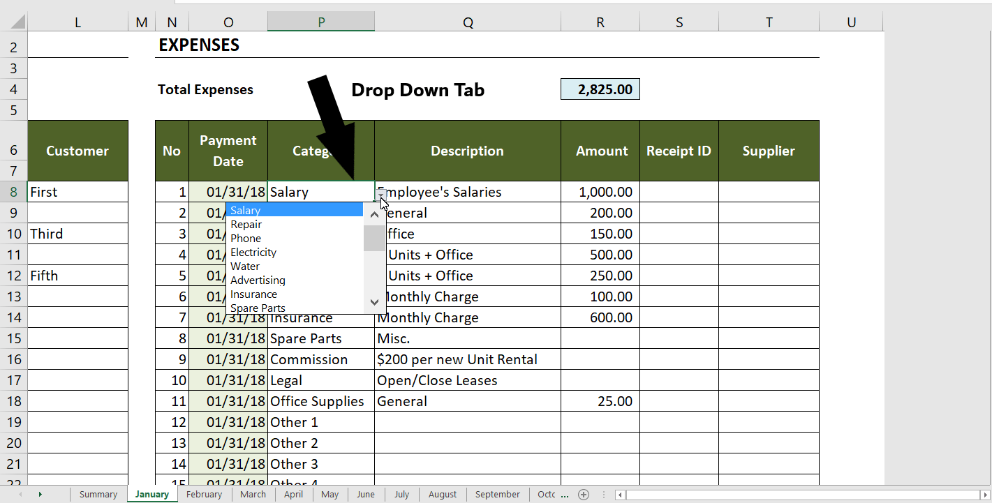 Rental Property Income And Expenses Worksheet The Spreadsheet Page