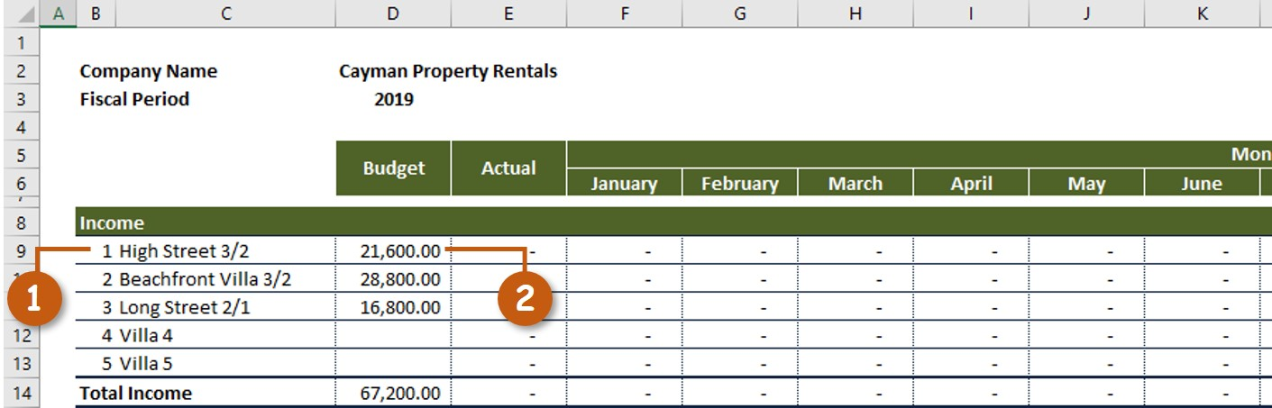 Rental Property Income Expenses Adding Properties