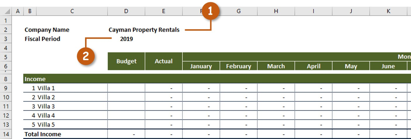 Rental Property Income Expenses Company Name