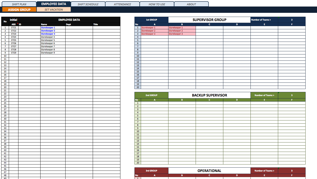 Shift Planner with Attendance Tracker